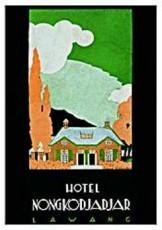 Jan Lavies (1902-2005) -Folder Ned-Ind. hotel- Postkaart