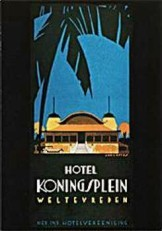 Jan Lavies (1902-2005) -Folder Ned- Ind hotel vereniging Java 1928- Postkaart