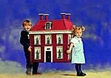 Peter Smith -Kindje met huis- Postkaart