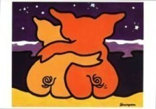 Shunyam Gross (1953) -Together- Postkaart