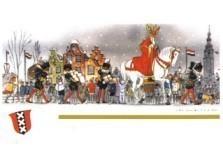 Jan Lavies (1902-2005) -Sinterklaas in Amsterdam- Postkaart