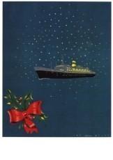 Jan Lavies (1902-2005) -Omslag kerstmenukaar- Postkaart
