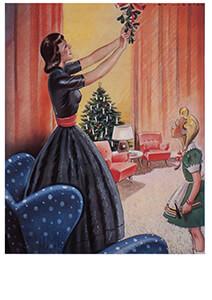 Jan Lavies (1902-2005) -omslag kerstnummer- Postkaart