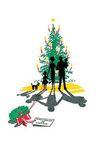 Jan Lavies (1902-2005) -kerstkaart, 1950.- Postkaart