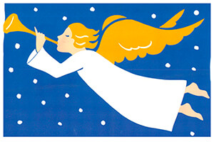 Muriel de Crayencour -Ange & Trompette- Postkaart