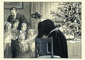 Cornelis Jetses (1873-1955) -Uit:De wereld in- Postkaart