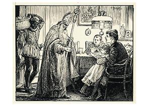 Cornelis Jetses (1873-1955) -Uit:Met ons vieren- Postkaart
