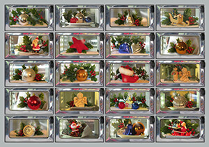 Rolf Unger -The Christmas automatiek- Postkaart