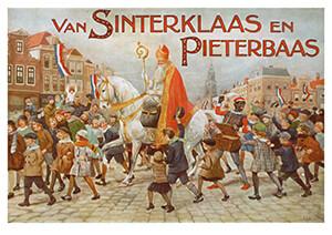 -Omslag van 'Van Sinterklaas en Pieterbaas'- Postkaart