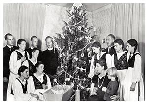 Spaarnestad Fotoarchief, -The Trapp family singers- Postkaart