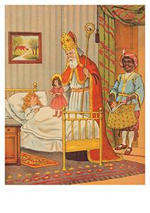 -Sint en Piet op bezoek- Postkaart