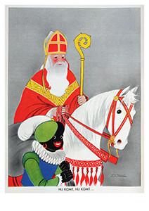 Willy Schermerle (1904-1995) -Sinterklaas en Zwarte Piet- Postkaart