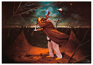 Teun Hocks (1947) -Hocks/ Heen en weer/Torch- Postkaart