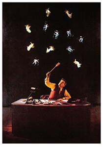 Teun Hocks (1947) -Hocks/ Het late uur/ Torch- Postkaart