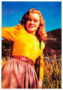 Bill Burnside (1926-1986) -Burnside/ M.Monroe,Malibu no.4- Postkaart