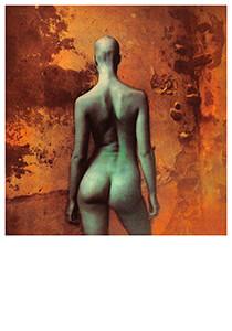 Jan Saudek (1935) -Saudek/ (groene dame)- Postkaart