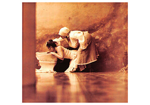 Jan Saudek (1935) -Saudek/ End of the orgy- Postkaart