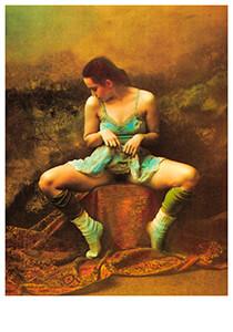Jan Saudek (1935) -Saudek/ Bashful woman- Postkaart