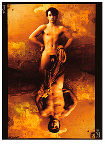 Jan Saudek (1935) -Saudek/ (knave of jack)- Postkaart