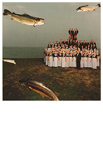 Hannes Wallrafen (1951) -H.Wallrafen/Ode zalm/Vis-a-Vis- Postkaart