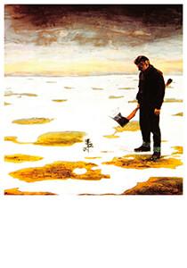 Teun Hocks (1947) -Hocks/ Untitled/Torch- Postkaart
