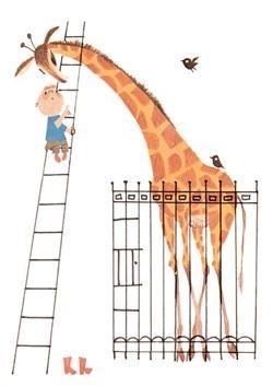 Fiep Westendorp (1916-2004) -Dikkertje Dap met giraf- Postkaart