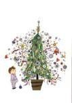 Fiep Westendorp (1916-2004) -Kerstboom- Postkaart