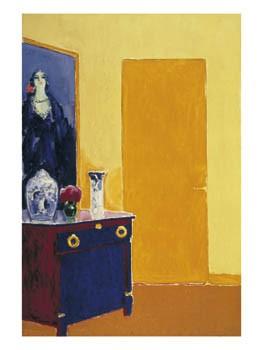 Kees van Dongen (1877-1968) -Interieur met gele deur, ca. 1910- Poster