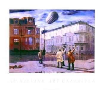 Carel Willink (1900-1983) -Zeppelin- Poster