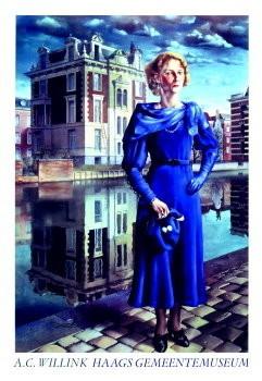 Carel Willink (1900-1983) -Blauwe Wilma- Poster