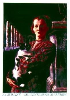 Carel Willink (1900-1983) -Wilma met Kat- Poster