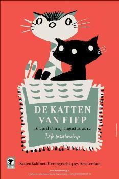 Fiep Westendorp (1916-2004) -De Katten van Fiep- Poster