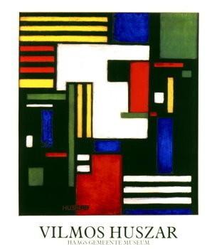 Vilmos Huszar (1884-1960) -Comp-met Witte Kop- Poster