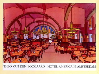 Theo v.d. Boogaard (1948) -Hotel Americain- Poster