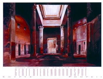 Gerti Bierenbroodspot (1940) -Egypte Pompeii- Poster