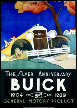 Jan Lavies (1902-2005) -Buick- Poster