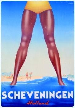 Jan Lavies (1902-2005) -Scheveningen- Poster
