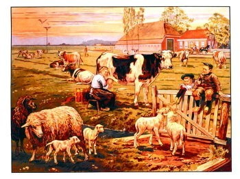 Cornelis Jetses (1873-1955) -In de weide- Poster