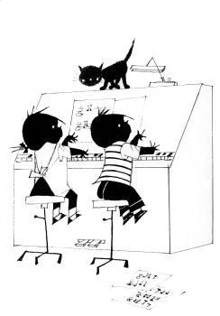 Fiep Westendorp (1916-2004) -Jip en Janneke achter de piano- Poster