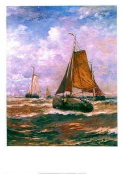 Hendrik W. Mesdag (1831-1915) -Mesdag/Vallende bommen/50*70- Poster