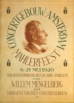 Felicien Bobeldijk (1876-1964)-F.Bobeldijk/Mahler 1920/Concgb- Poster