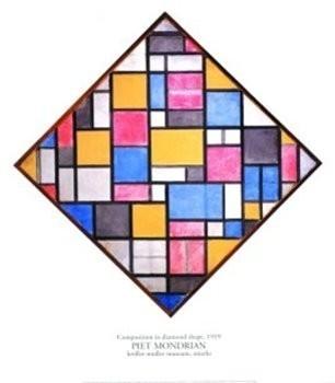Piet Mondriaan (1872-1944) -Compostiei ruitvorm- Poster