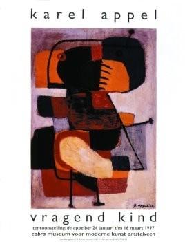 Karel Appel (1921-2006) -Vragend Kind- Poster
