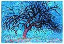 Mondriaan (1872-1944)Mondrian -De rode boom- Dubbele Kaart