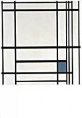 Mondriaan (1872-1944)Mondrian -Comp.met blauw- Dubbele Kaart
