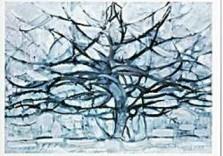 Mondriaan (1872-1944)Mondrian -De grijze boom- Dubbele Kaart