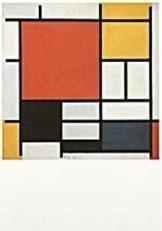 Mondriaan (1872-1944)Mondrian -Compostie met rood, geel, blauw- Dubbele Kaart