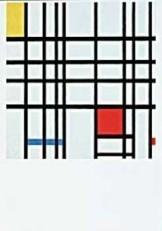 Mondriaan (1872-1944)Mondrian -Compostie rood, geel, blauw- Dubbele Kaart