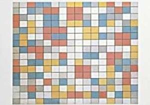 Mondriaan (1872-1944)Mondrian -Schaakbord- Dubbele Kaart