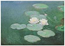 Claude Monet (1840-1926) -Nympheas,effet du s- Dubbele Kaart
